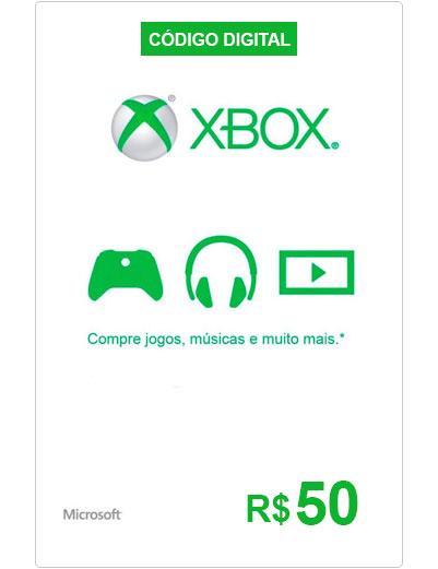 CARTÃO-PRESENTE-XBOX-LIVE-R$50