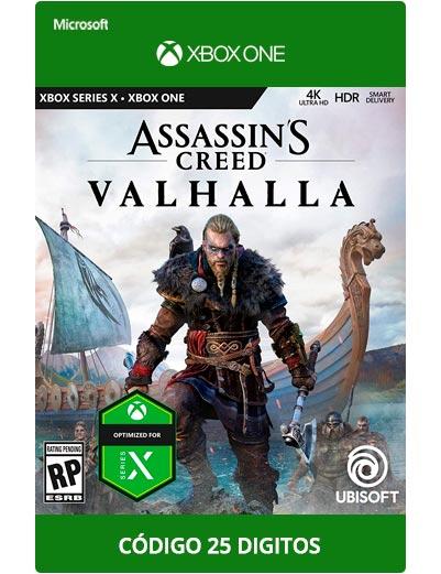 Assassins-Creed-Valhalla-Xbox One Codigo 25 digitos