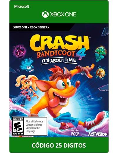 Crash-bandicoot-4-its-about-time-Xbox-One-Codigo-25-digitos
