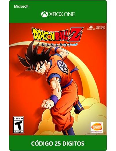 Dragon-Ball-Z-kakarot-Xbox-One-Codigo-25-Digitos