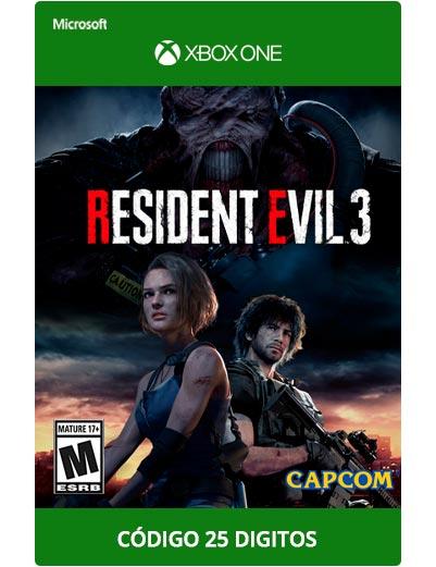 Resident-Evil-3-Xbox-One-Codigo-25-digitos